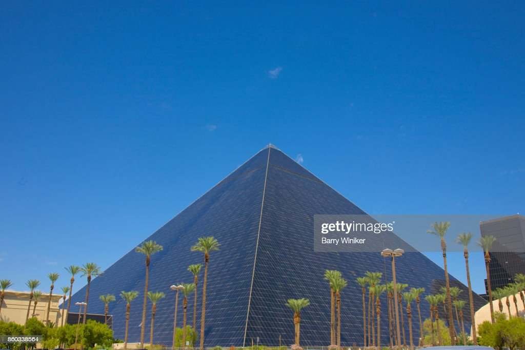 Pyramid Shaped Hotel And The Luxor Las Vegas Stock Photo