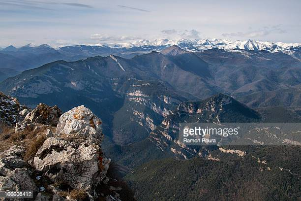 Pyrenees from Bassegoda mountain