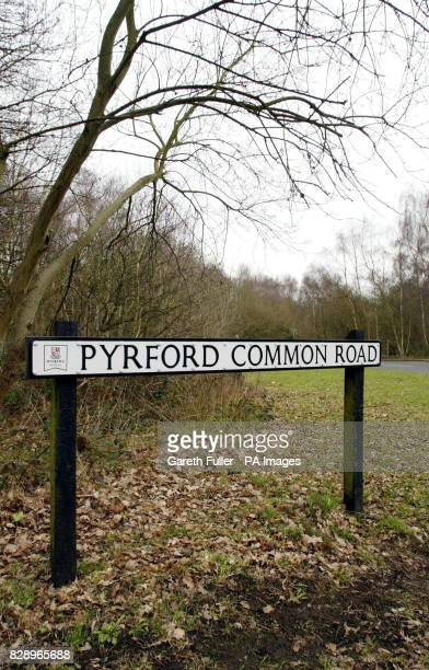 Pyrford Common Road near Woking in Surrey where a 13 yearold girl was raped in a wooded area off the Common road September 06 2002 the girl had been...
