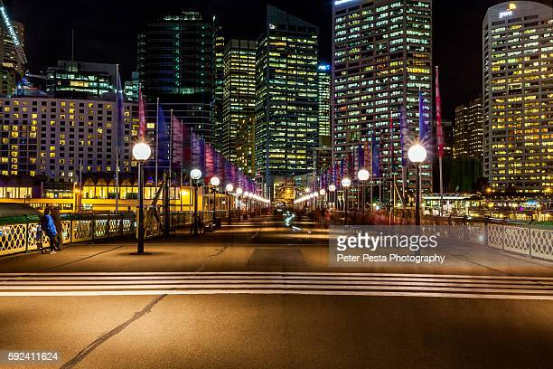 pyrmont bridge - darling harbour stock pictures, royalty-free photos & images