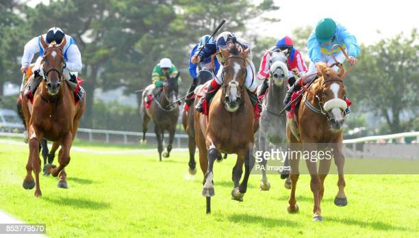 Pyromaniac and jockey Fran Berry go on to win the Trappers Inn Handicap on day seven of the Galway Festival at Galway Racecourse Ireland