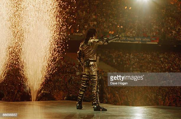 A pyrotechnic display at a Michael Jackson concert in Bremen during the HIStory World Tour 1997
