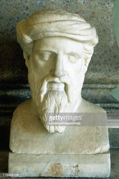 Pythagoras Ancient Greek mathematician and philosopher Portrait bust