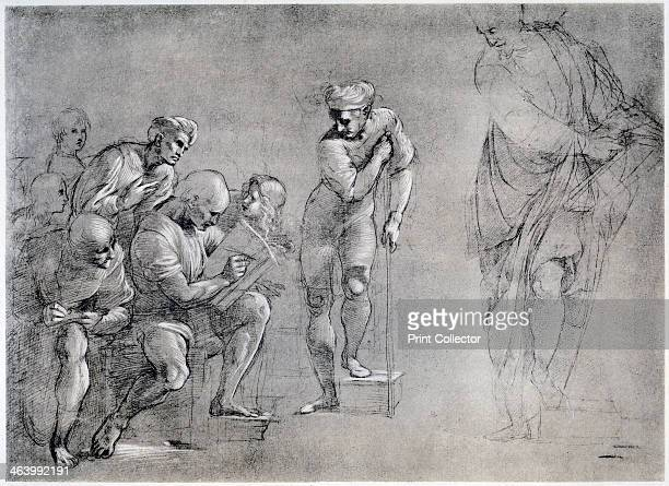 Pythagoras drawing for the 'School of Athens' 16th century