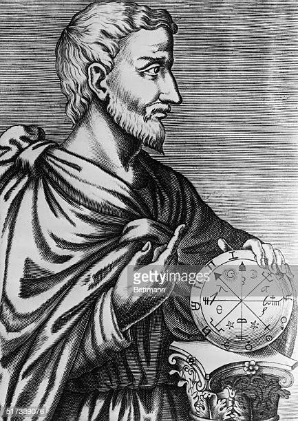 Pythagoras Greek philosopher and mathematician 'The Simian Sage' head of School of Crotona Greek colony in Italy