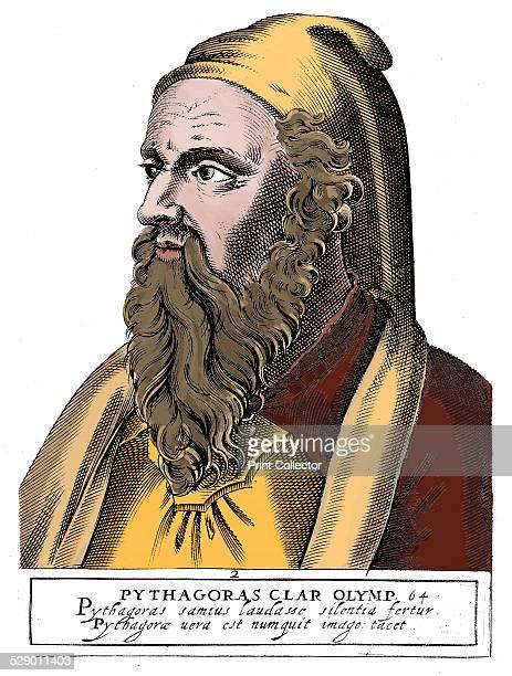 Pythagoras Greek philosopher and scientist Mathematics Acoustics Engraving