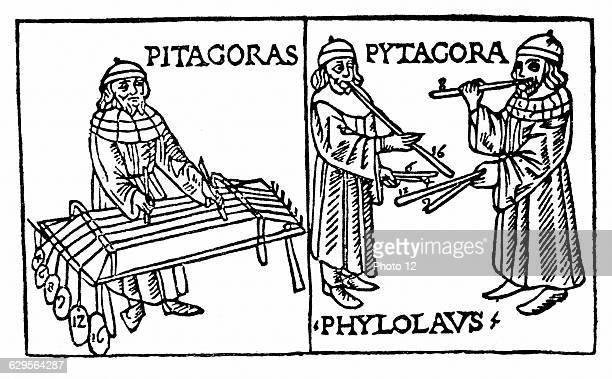 Pythagoras Greek philosopher and scientist Recognised mathematical relationship between length of vibrating string column of air or size of...