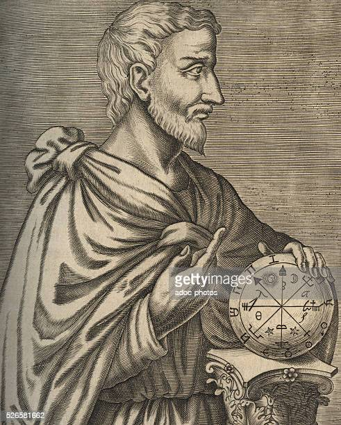 Pythagoras Greek philosopher math��matician and scientist born at Samos