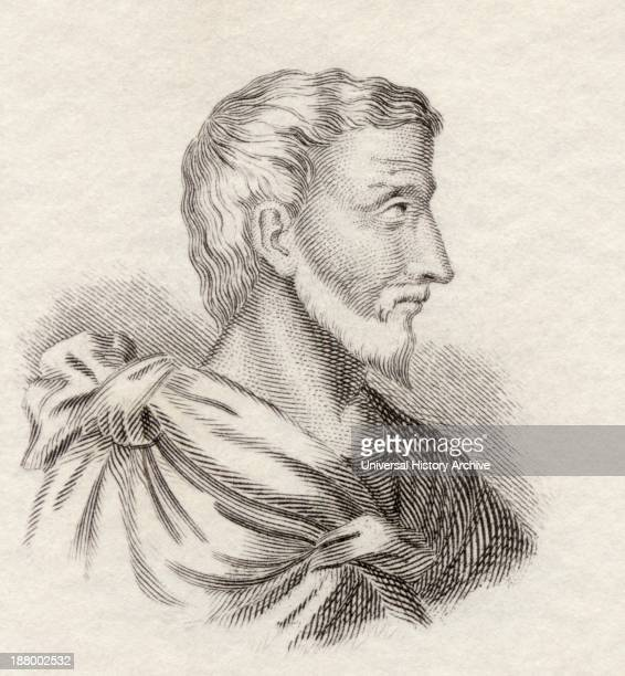 Pythagoras Of Samos C 570C 495 Bc Ionian Greek Philosopher And Mathematician From Crabb's Historical Dictionary Published 1825