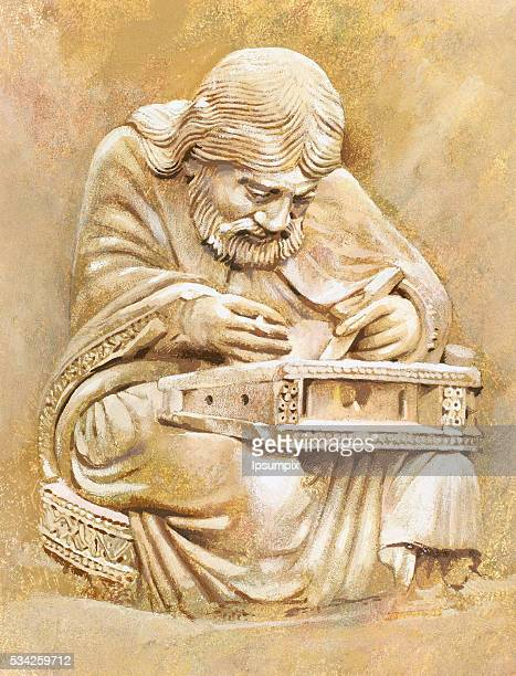 Pythagoras of Samos Ionian Greek philosopher mathematician and founder of the religious movement called Pythagoreanism Portrait