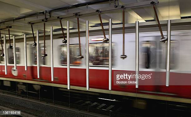 Pythagoras tubular bells hang between the inbound and outbound platforms of Kendall Square T station Saturday April 30 2011 Today marked a...