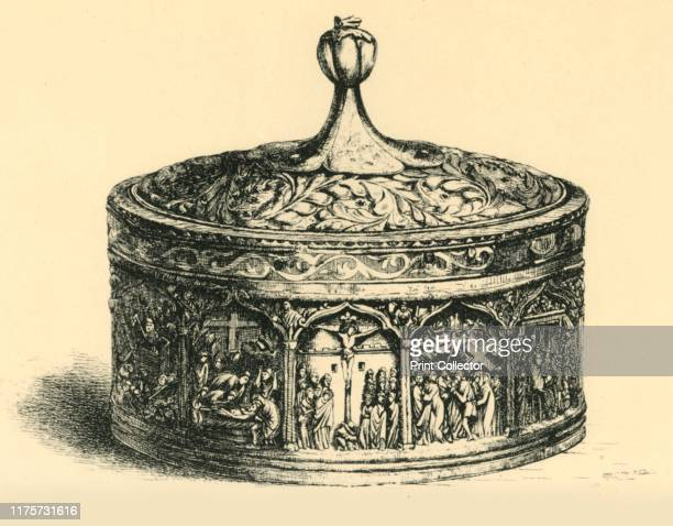 Pyx 15001700 Etching of a carved boxwood pyx possibly made in Venice or the Balkans between the 16th and 17th centuries A pyx is a small round...