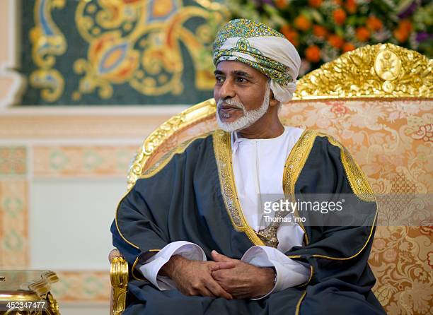 Qaboos bin Said Al Said sultan of Oman on March 25 in Muscat Oman Qaboos bin Said Al Said