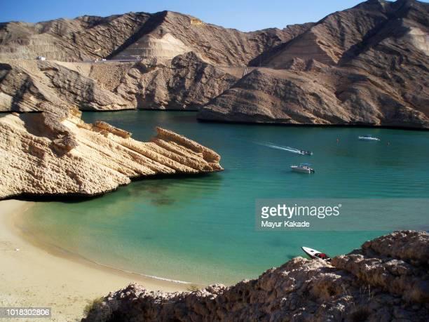 qabtab beach, muscat, oman - oman fotografías e imágenes de stock