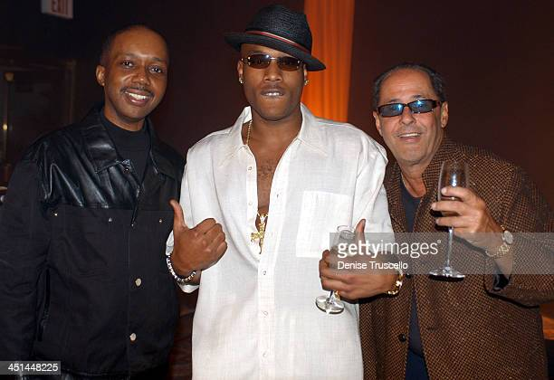 Qadree ElAmin Mario Winans And Bill Edwards during Mario Winans Signs Deal To Produce Music For BIG3 Records at The Mirage Casino Resort in Las Vegas...