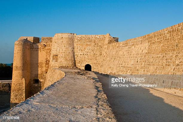 qal'at al bahrain or portugese fort - fortress stock pictures, royalty-free photos & images