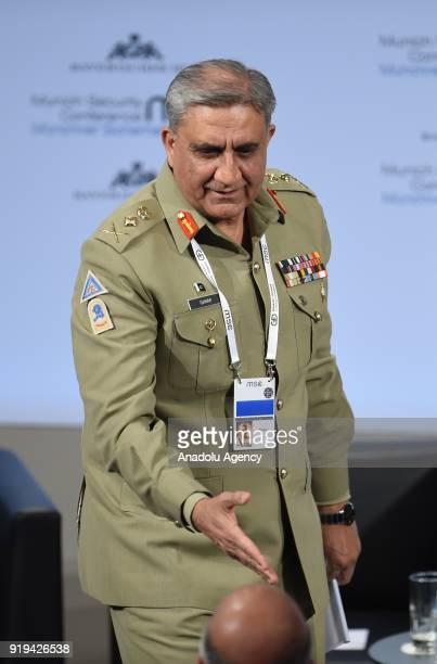 Qamar Javed Bajwa Chief of Army Staff of Pakistan attends the 54th Munich Security Conference at Hotel Bayerischer Hof in Munich Germany on February...
