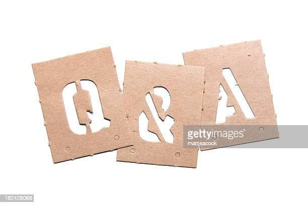 Q & una plantilla palabra