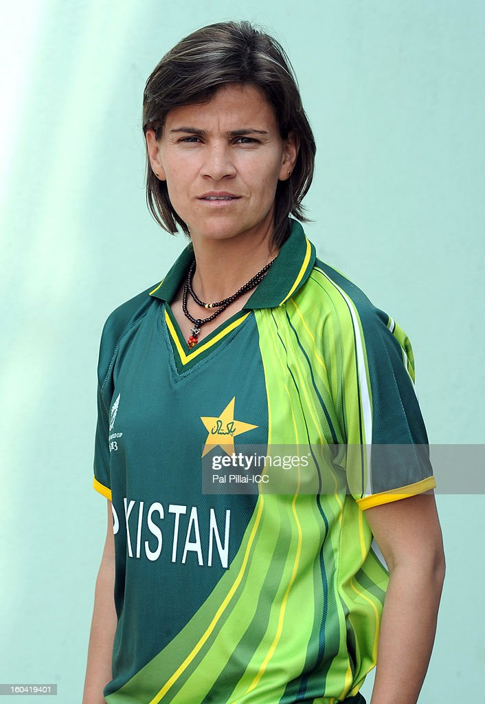 Qanita Jalil of Pakistan attends a portrait session ahead of the ICC Womens World Cup 2013 at the Barabati stadium on January 31, 2013 in Cuttack, India.