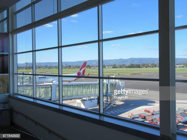 Qantas Aircraft at Airport