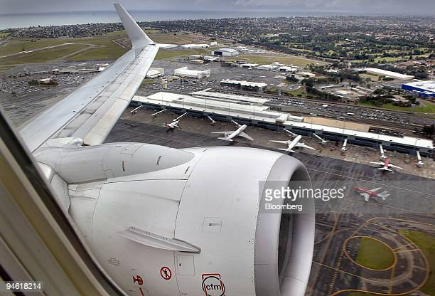 Qantas Airways Ltd jet takes off from Adelaide airport in Australia Thursday June 1 2006