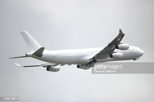 Qantas commercial plane takes off at Sydney Airport on March 14 2019 in Sydney Australia The Civil Aviation Safety Authority has suspended operations...
