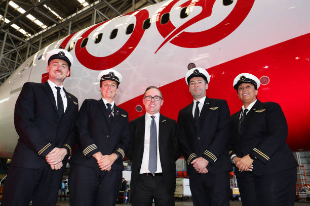 AUS: Qantas Celebrates Arrival Of London To Sydney Direct Fight And Centenary