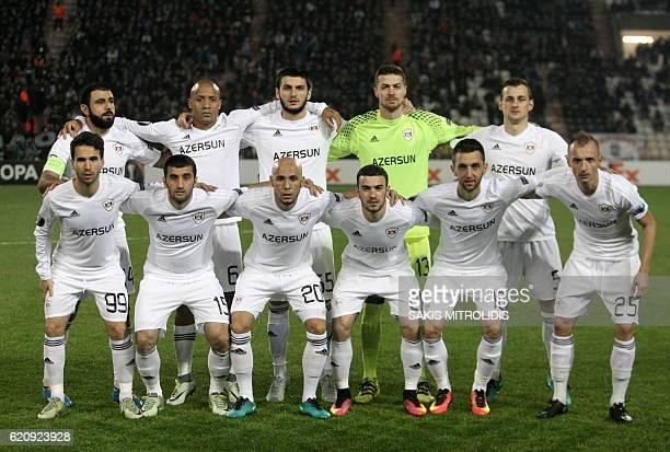 Qarabag's players Qarabag's Spanish midfielder Dani Quintana Qarabag's Azerbaijani midfielder Rahid Amirguliyev Qarabag's Brazilian midfielder...