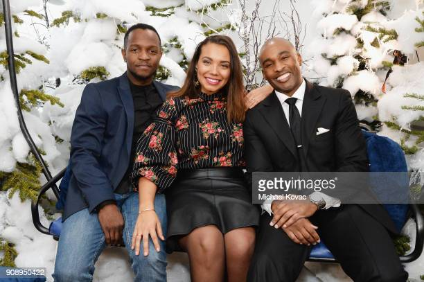 Qasim Basir Samantha Tanner and Datari Turner attend as Grey Goose Blue Door hosts the casts of gamechanging films during the Sundance Film Festival...