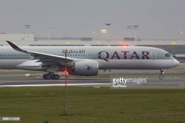 A Qatar Airbus A350 XWB in Brussels international airport in Belgium Qatar Airways based in Doha is the launch qustomer airline of this modern and...