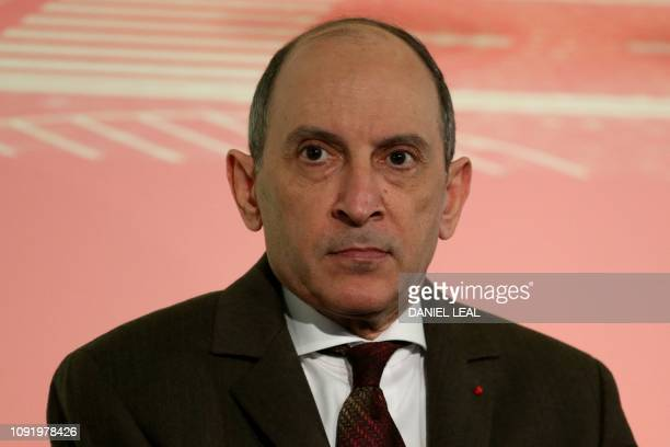 Qatar Airways CEO Akbar Al Baker attends a press conference in London on February 1 with the chief executives of the airlines that form Oneworld...