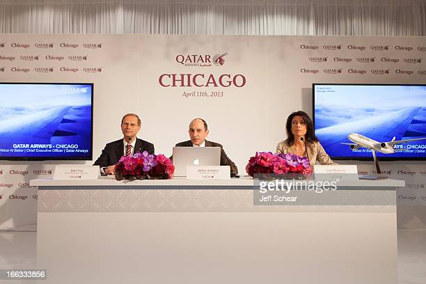 Qatar Airways CEO Akbar Al Baker introduces local Chicago and international media to the airline's growth strategy with Qatar Airways Senior Vice...
