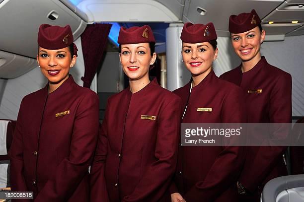 Qatar Airways lands it's 5Star Menu at Dulles International Airport on September 25 2013 in Washington DC