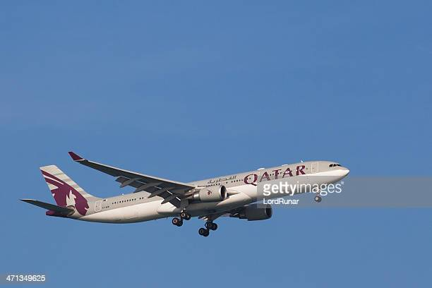 qatar airways - qatar airways a stock pictures, royalty-free photos & images