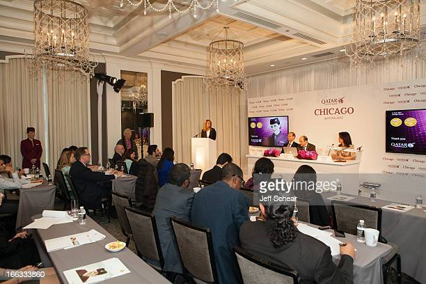 Qatar Airways Senior Vice President for the Americas Bart Vos Qatar Airways CEO Mr Akbar Al Baker and Qatar Airways Country Manager for the US Lisa...