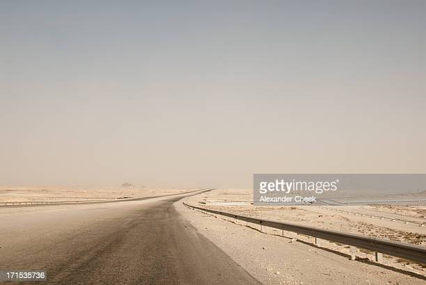 Qatar desert road