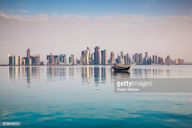 qatar, doha, exterior - qatar stock pictures, royalty-free photos & images