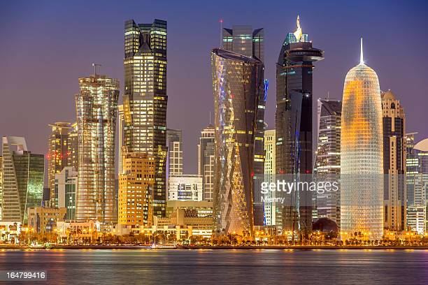Qatar Doha Skyline at Night