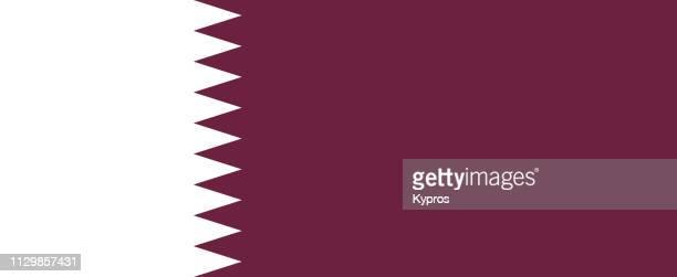 qatar flag - qatar photos et images de collection
