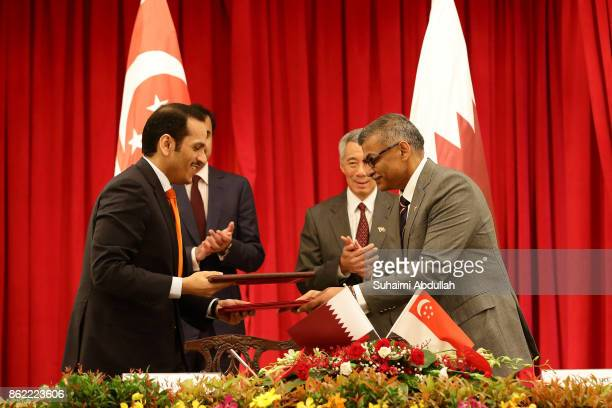 Qatar Minister of Foreign Affairs Sheikh Mohammed Bin Abdulrahman Bin Jassim Al Thani and Chief Justice and President of the Singapore Academy of Law...