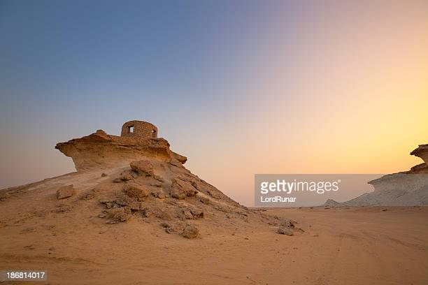 qatar sunset - old ruin stock pictures, royalty-free photos & images