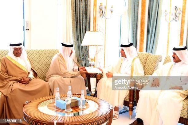 Qatari Deputy Prime Minister and Foreign Minister Sheik Mohammed bin Abdulrahman bin Jassim AlThani receives the invitation letter of Saudi Arabian...