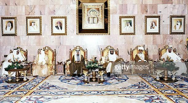 Qatari Emir Sheikh Hamed ibn Khalifa alThani Bahrani Emir Shiekh Isa ibn Salman Khalifa Kuwaiti Emir ShEIkh Jaber AlAhmed alSabah UAE President...