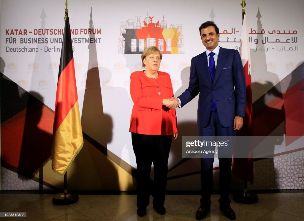 Germany - Qatar Economic Conference in Berlin : News Photo
