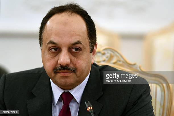 Qatari Foreign Minister Khaled alAttiyah attends a meeting with his Russian counterpart in Moscow on December 25 2015 AFP PHOTO / VASILY MAXIMOV /...