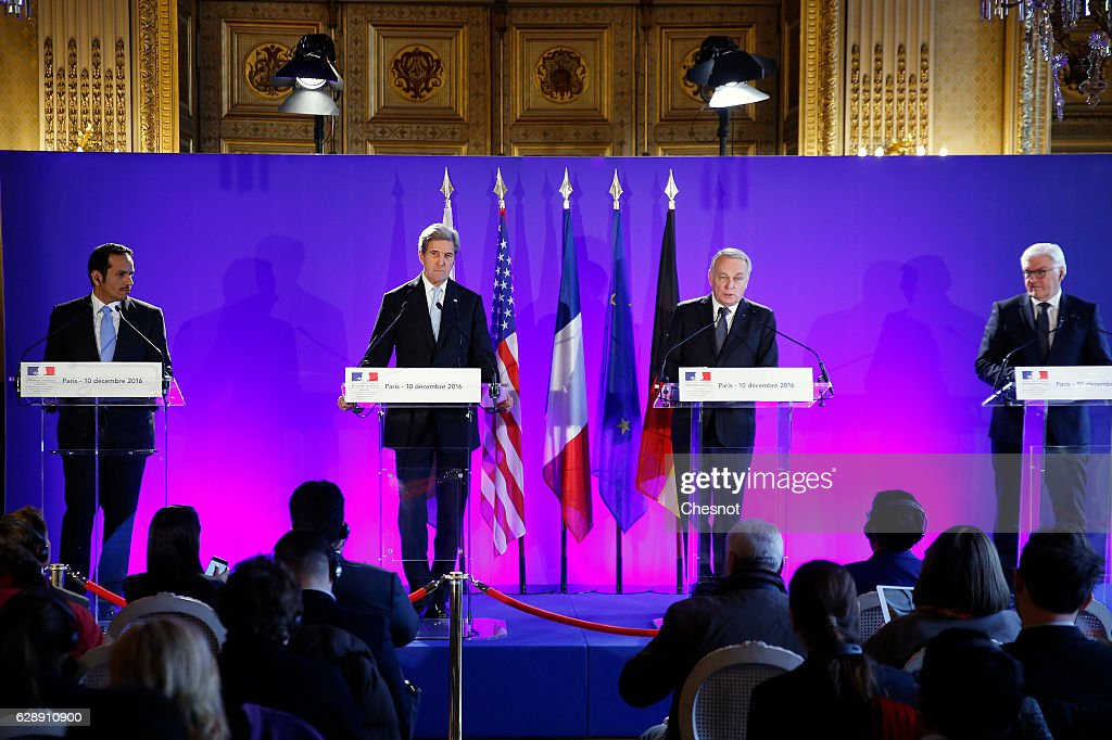 Jean-Mayc Ayrault, French Minister of Foreign Affairs Meets Foreign Affairs Representatives For A Meeting on Syria In Paris