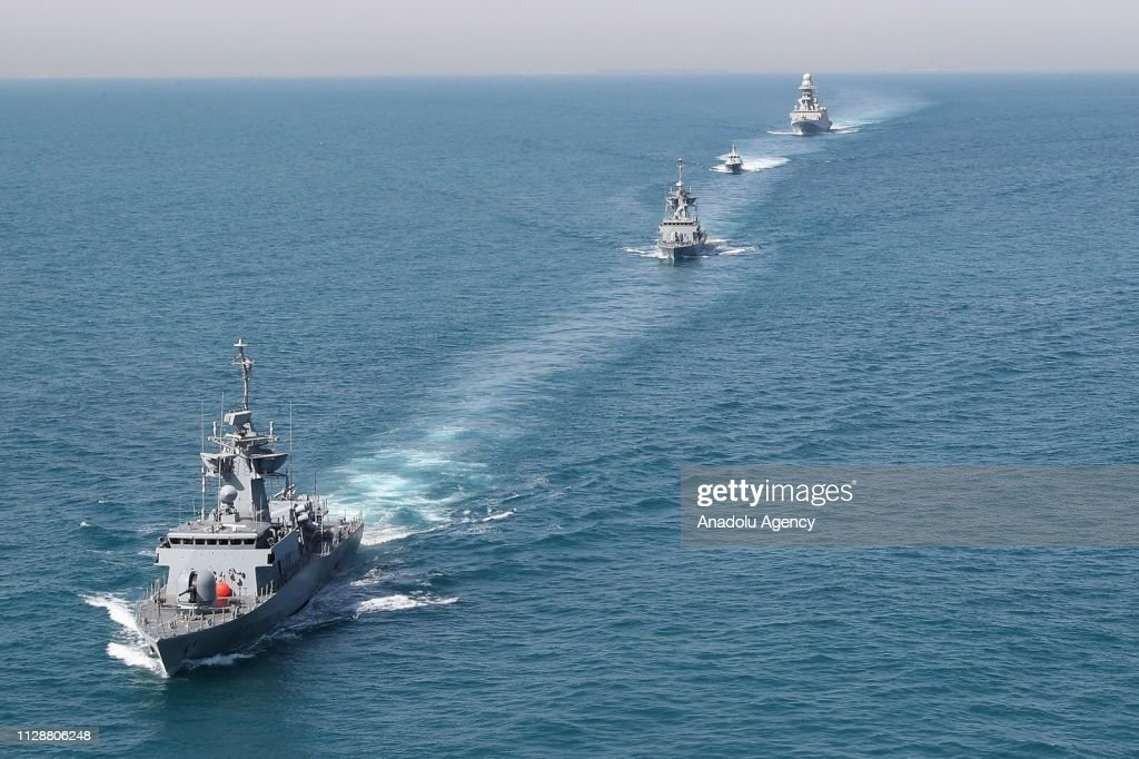 Joint Qatar and Italy naval drill in Qatar : News Photo