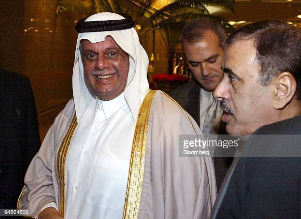 Qatari Minister of Energy and Industry Abdullah bin Hamad alAttiyah pauses on arrival in Cairo Egypt Thursday December 9 2004 Crude oil rose for a...