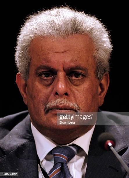 Qatari Minister of Energy Industry HE Abdullah Bin Hamad AlAttiyah speaks at the 18th World Petroleum Congress in Johannesburg South Africa Wednesday...