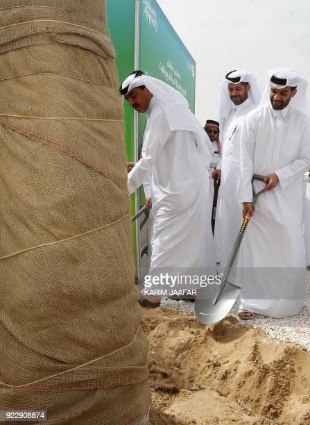 Qatari Minister of Municipality and Environment Mohammad Bin Abdullah Mitaab AlRumaihi Assistant Secretary General for the Qatar 2022 Tournament...